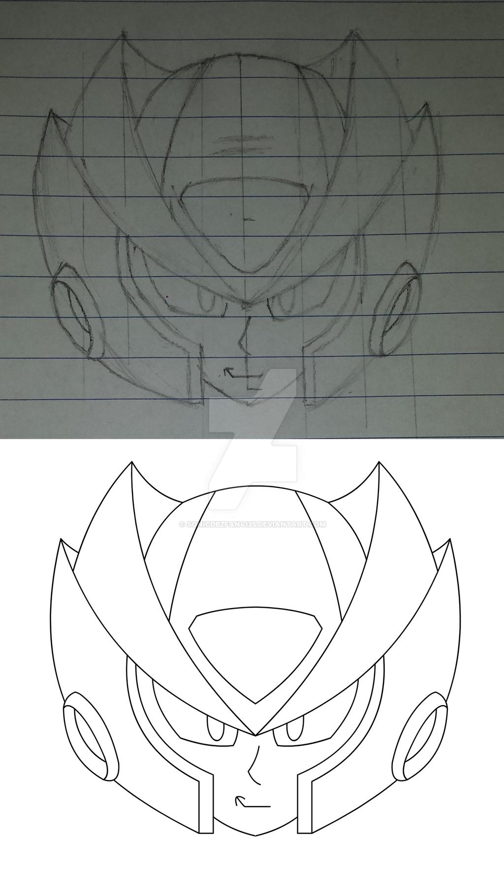 MegaMan Zero (head) ~MMX Style by SonicDBZFan4125