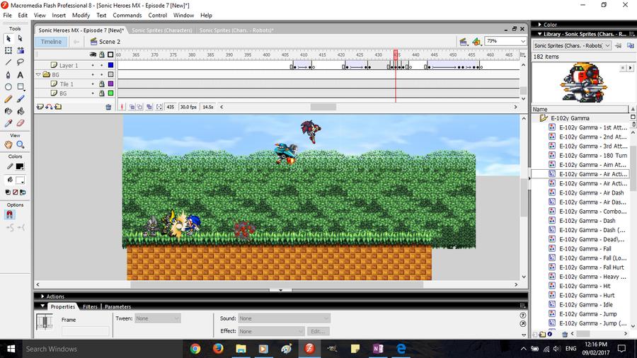 SHMX - Ep. 7 [Progress Screenshot #1] by SonicDBZFan4125
