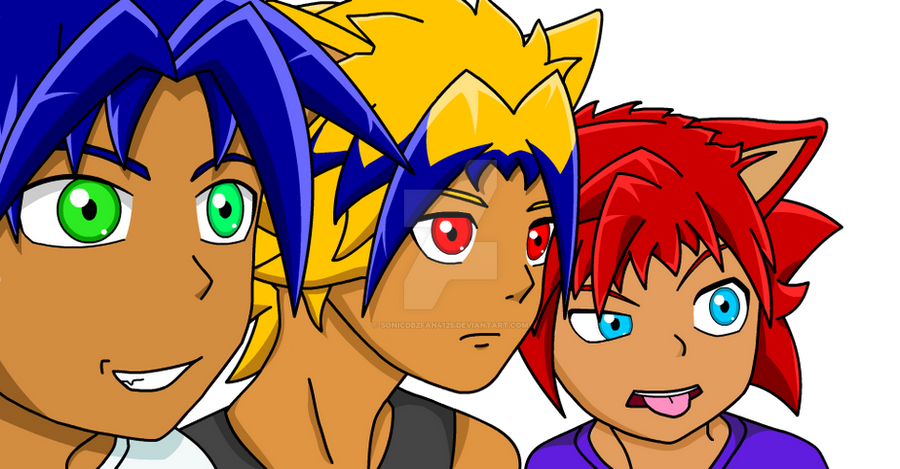 Zack, Seth + Alyx ~ 'Who're they?' by SonicDBZFan4125