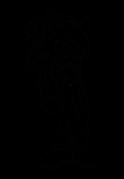 .: for FluffyPup ~ Koji [Line Art] :. by SonicDBZFan4125