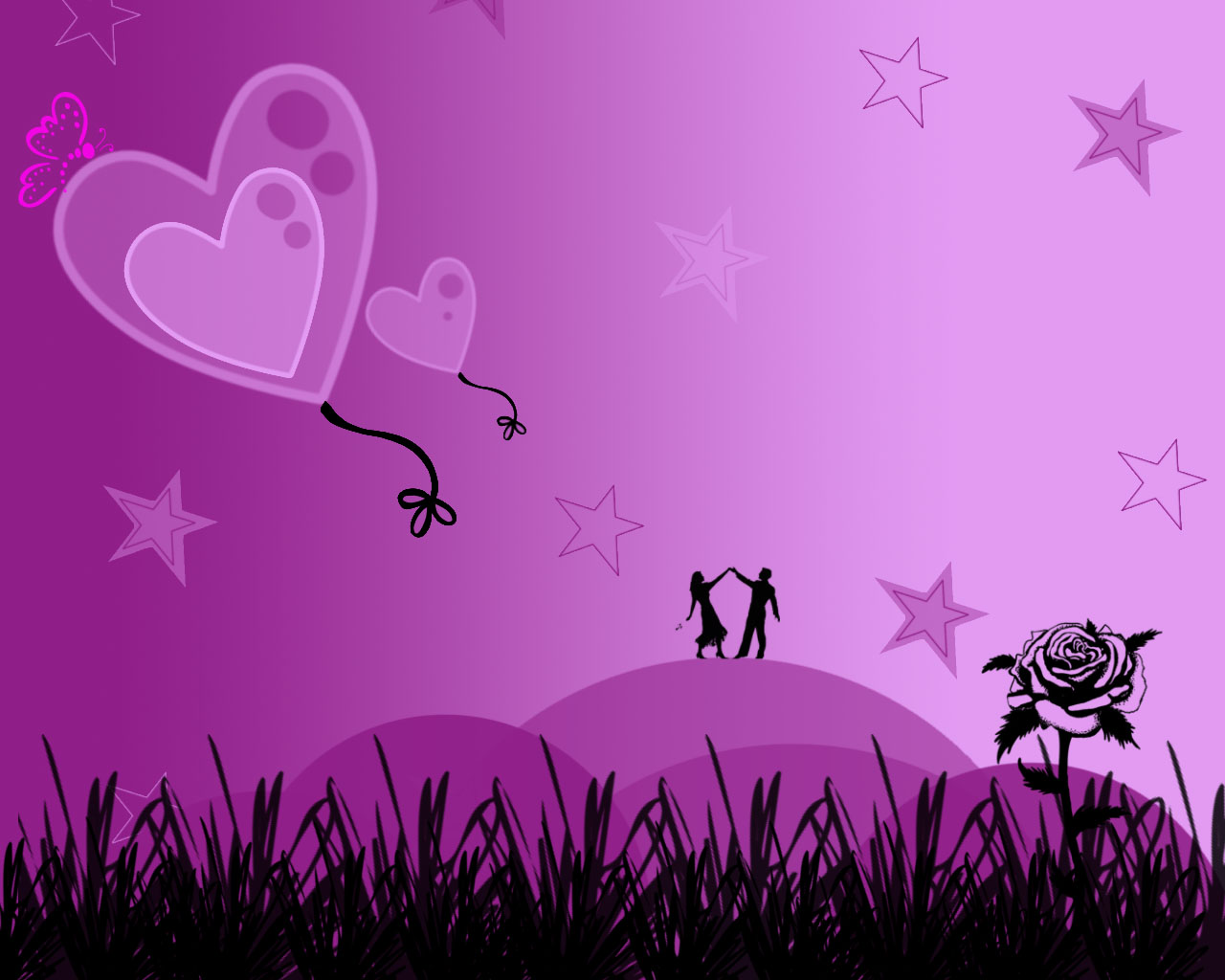 purple wallpaper free photos: Purple Love Wallpaper