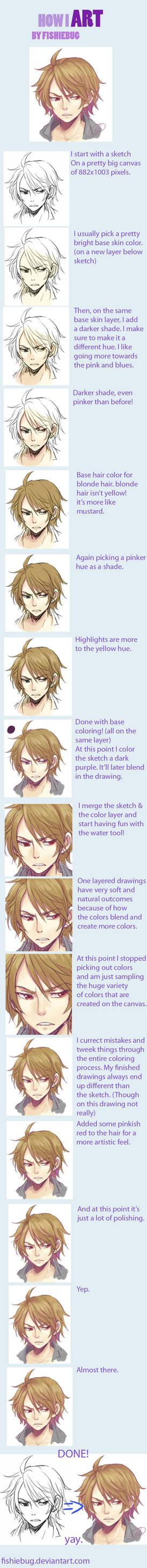 How I art - Fi's coloring process