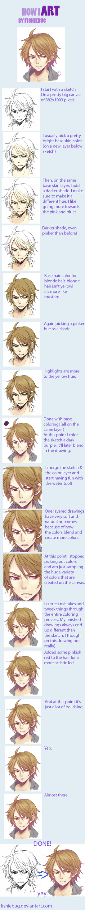 How I art - Fi's coloring process by Fishiebug