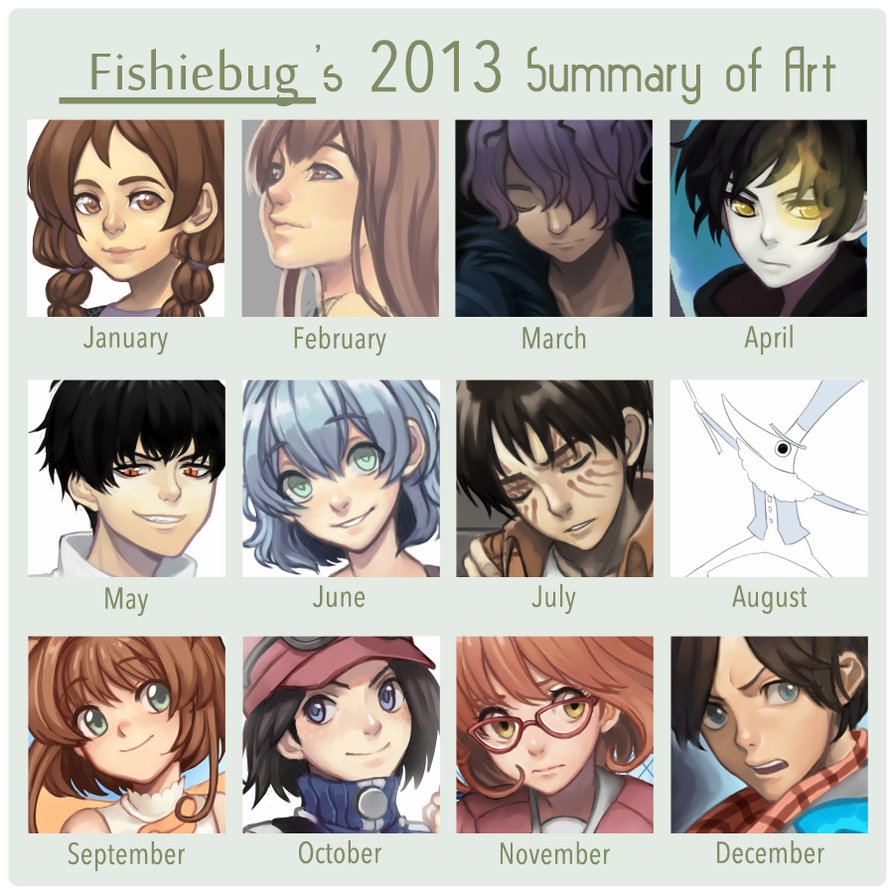 2013 Summary by Fishiebug