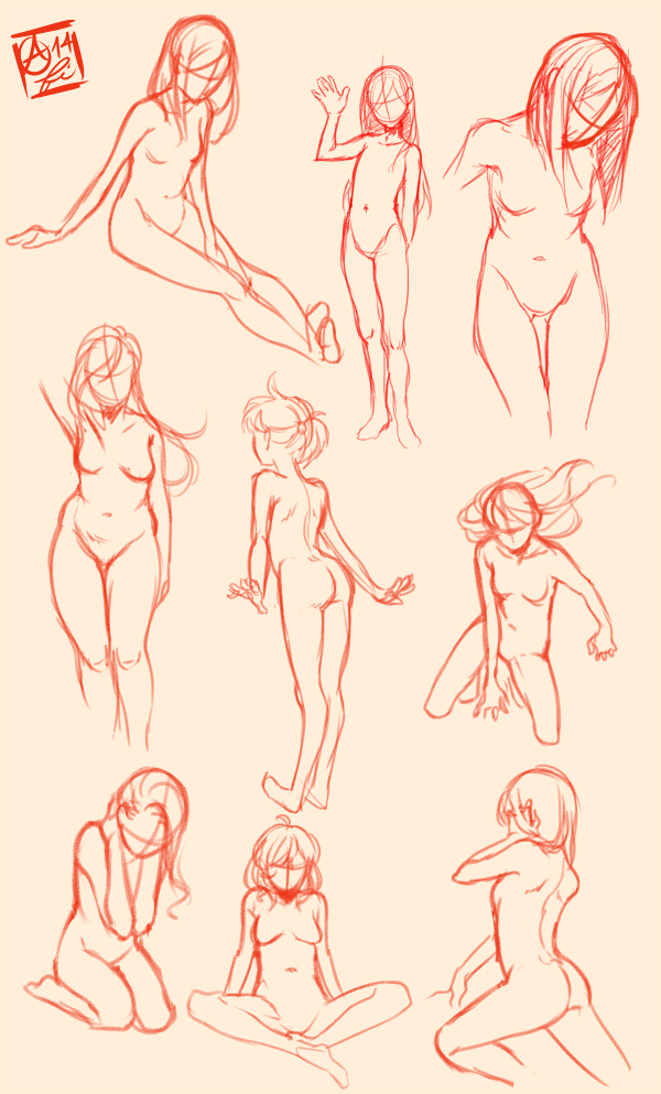 Female Pose Study by Fishiebug on DeviantArt