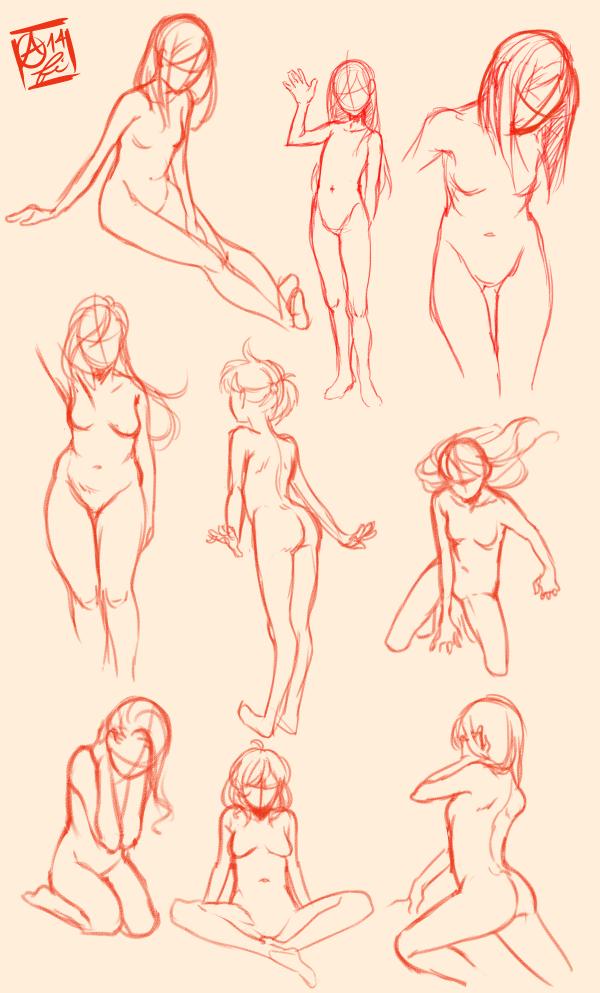 Female Pose Study by Fishiebug