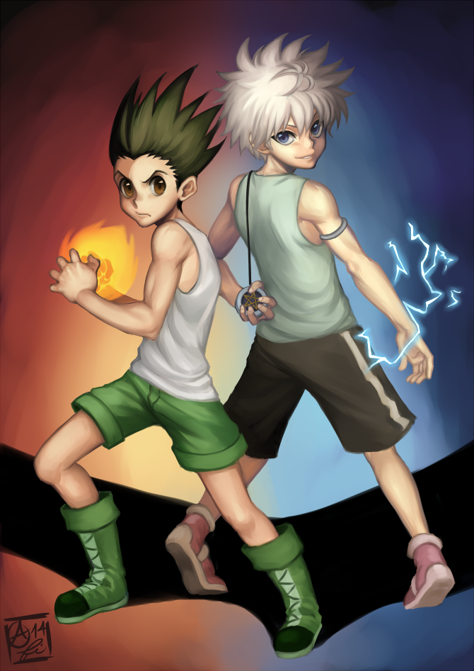HxH - Gon and Killua by Fishiebug