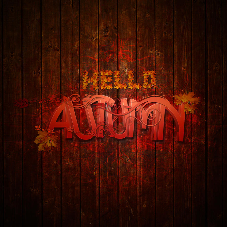 Hello Autumn typography