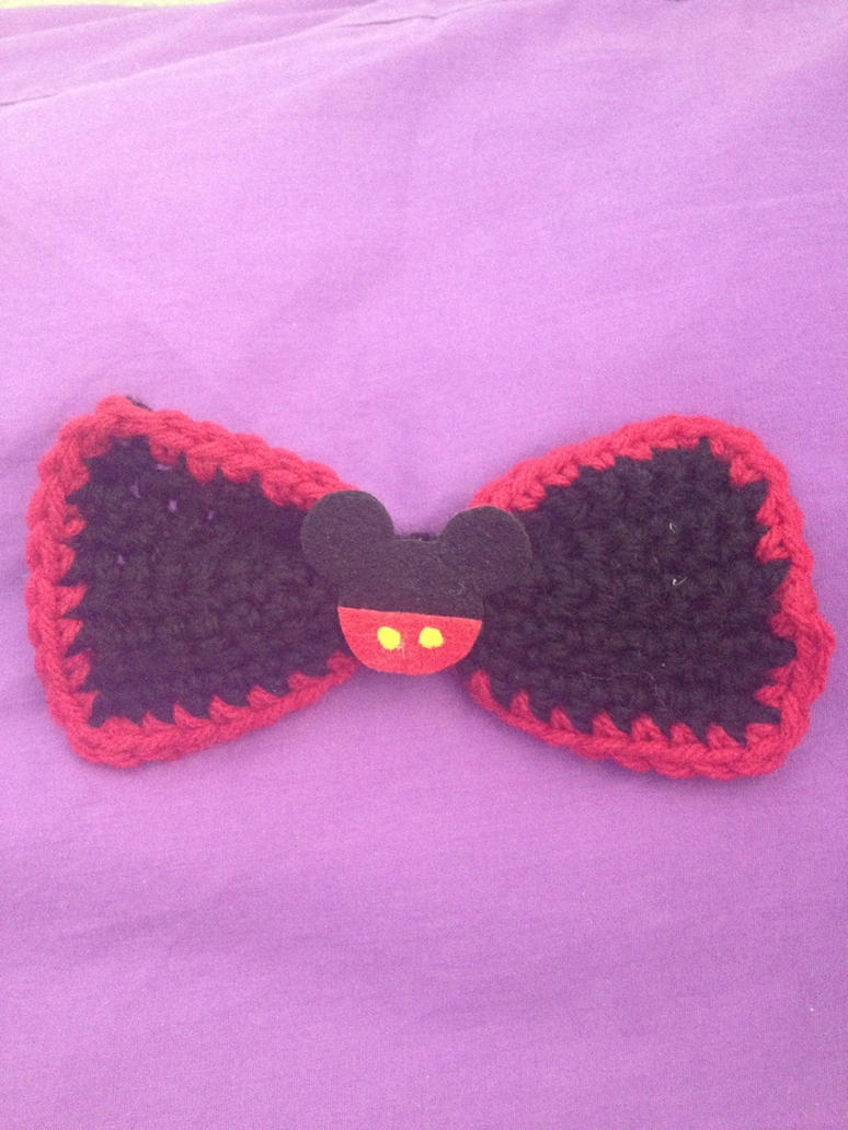 Mickey Mouse Inspired Bow by Raychull7