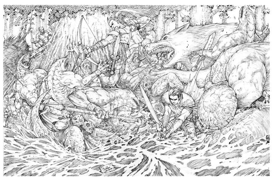 Lizard Ambush by theblackoutsyndrome