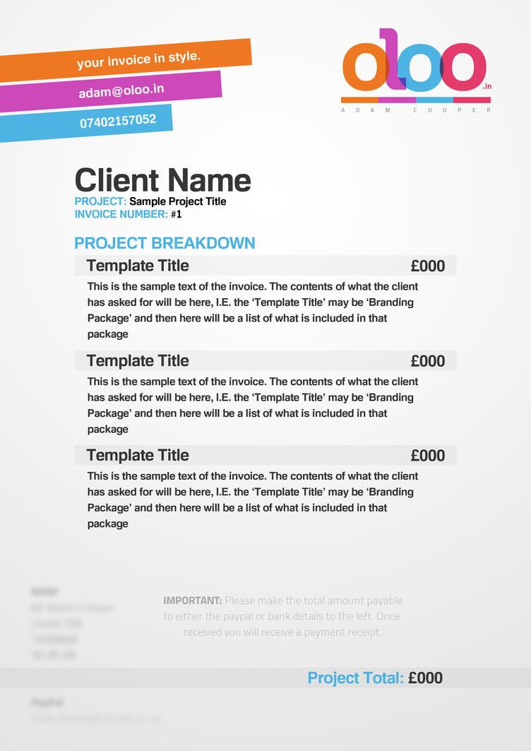 oloo: adam cooper invoice template by adamjamescooper on deviantart, Invoice examples
