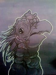 monkey bird by desertlimosine