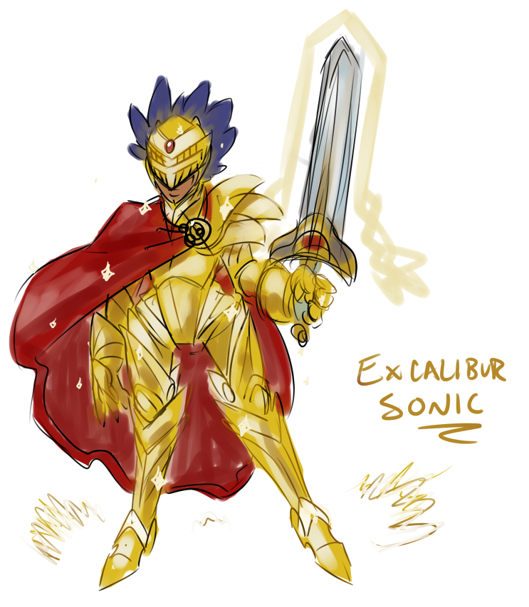 human excalibur sonic sketch by simonsoys on deviantart