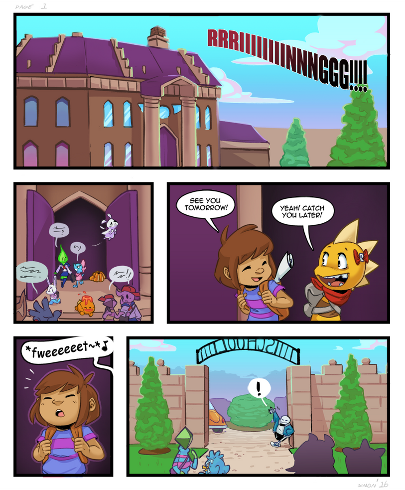 (UT) Post Pacifist Comic - page 1 by SimonSoys