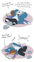 Sans is cool sometimes but mostly he's annoying.
