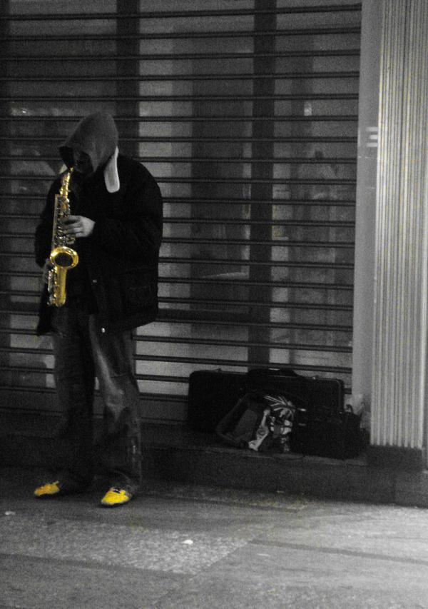 Saxophonist by MeMeEe
