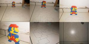 Pins and Lego NES Mario by euamodeus