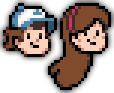The Twin Pines Head (Pixel Art) by euamodeus