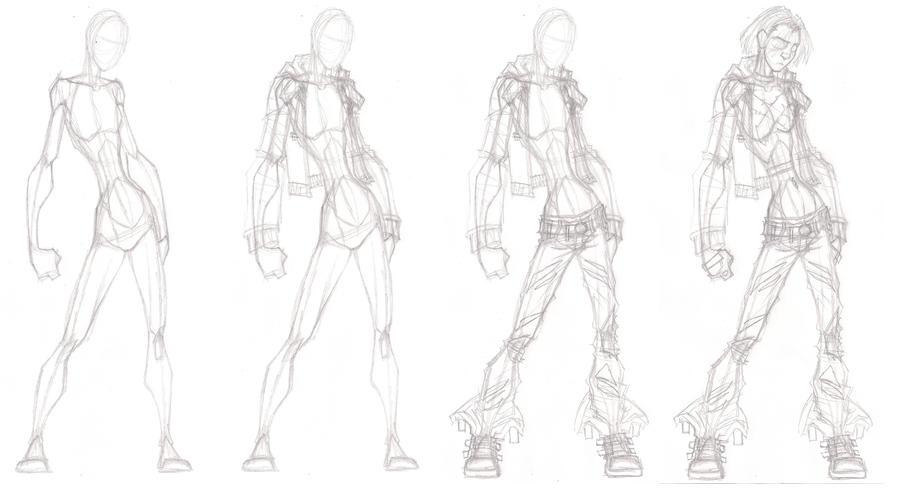 Thumper sketch process by Grigori77
