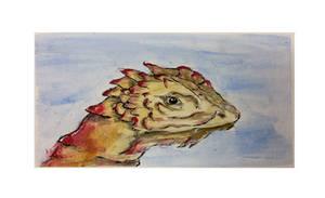 Lizard head acrylic