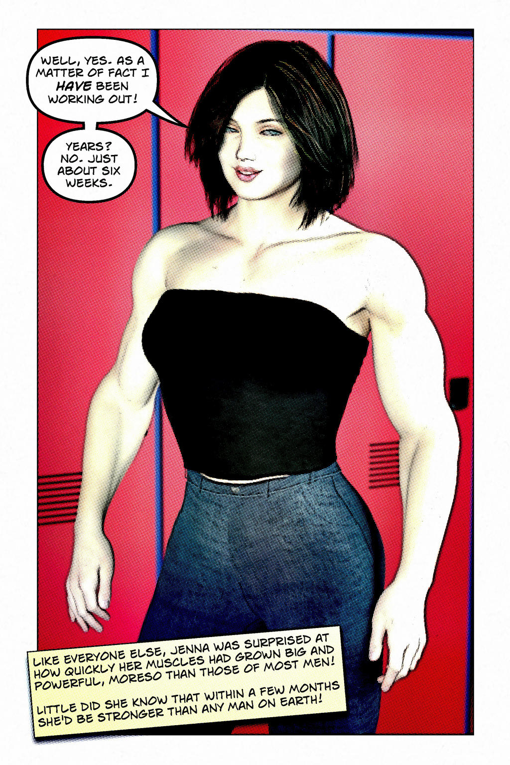 Comic Female Muscle Growth | Autos Post