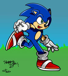 Happy 19th Birthday Sonic by ClassicTeam