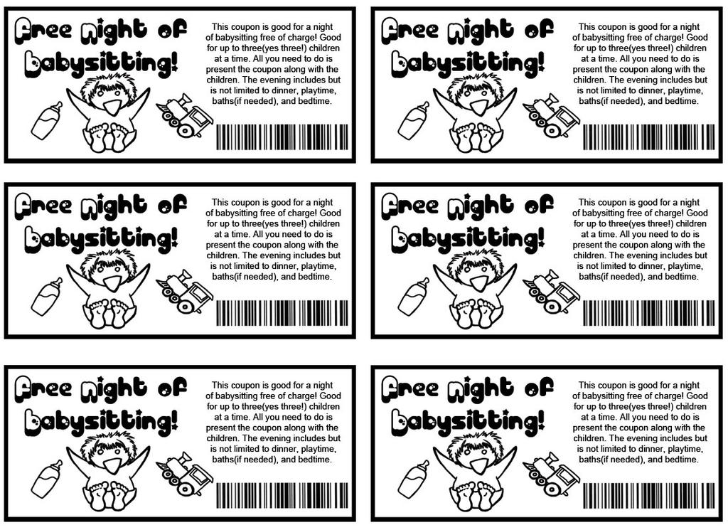 Babysitting Coupons By Zombieobsessions On Deviantart