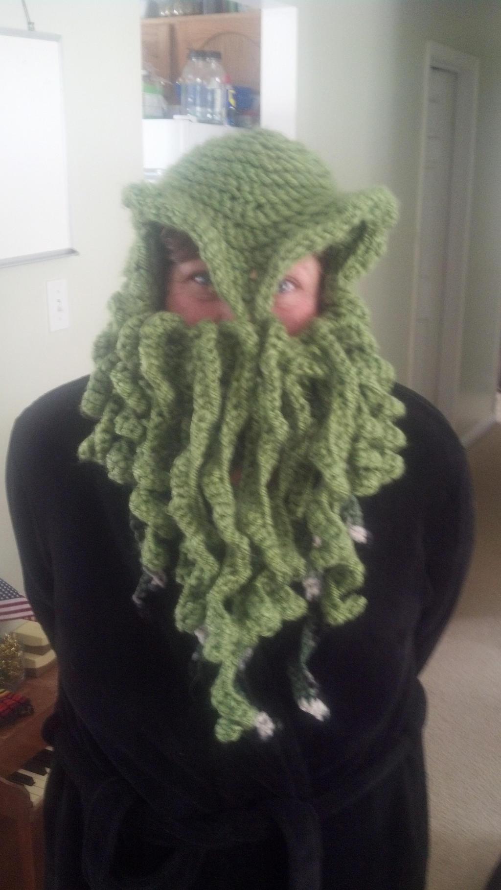 Crochet Cthulhu Ski Mask Pattern Free: Freecraftingideas. Images ...