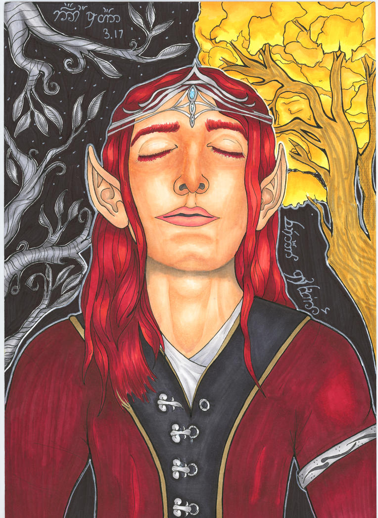 Feanor in the Blessed Realm by Remus-Is-My-King