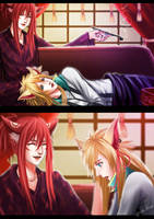 Commission 15 : Kiyoshi and Finn by gattoshou