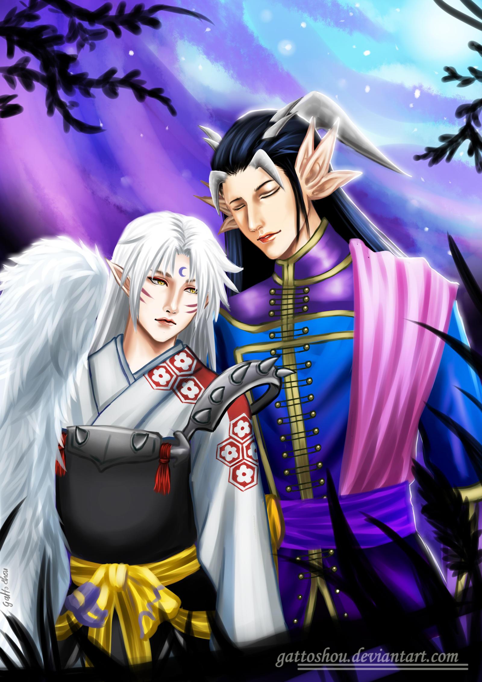 Comm 31 : Yomi and Sesshomaru Fanart by gattoshou