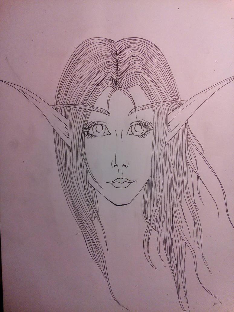 Elf by AuroraAkkaris