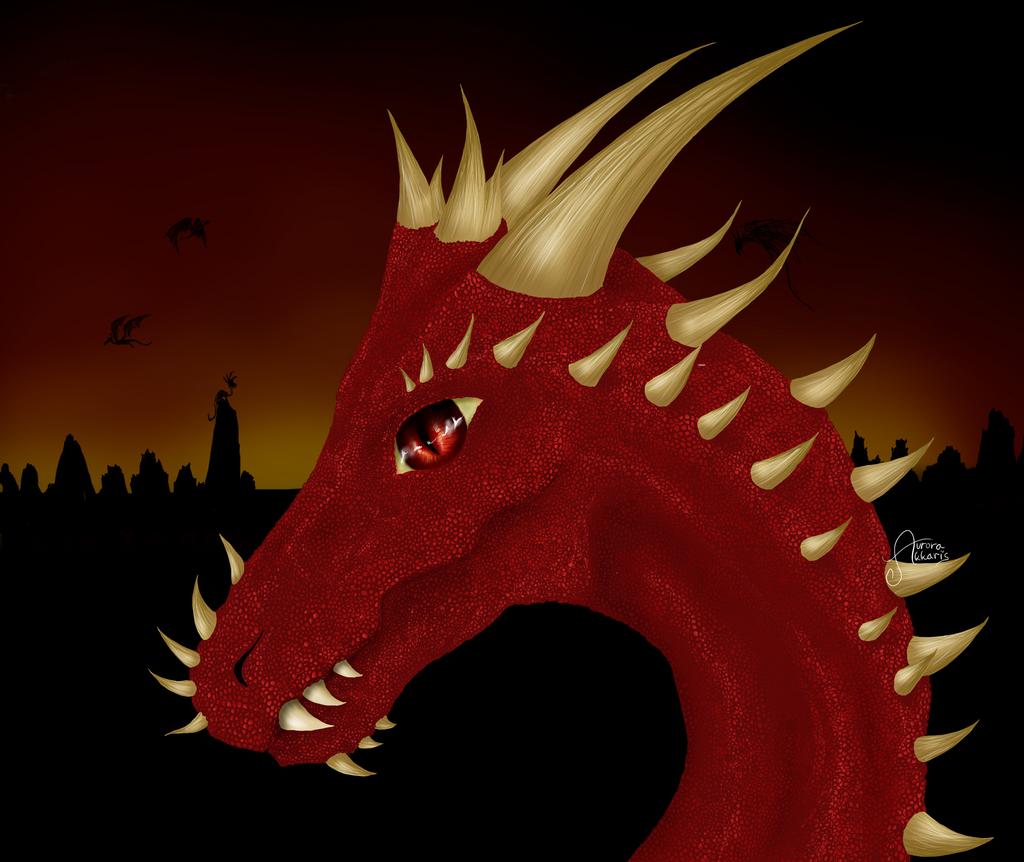 Dragon by AuroraAkkaris