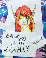 Thank you for the Llama! 04 / Exeress by Nautileen