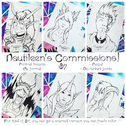 [OPEN] COMMISSIONS: Linearts by Nautileen