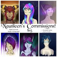 [OPEN] COMMISSIONS: Digital portrait by Nautileen
