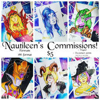 [OPEN] COMMISSIONS: Traditional portrait by Nautileen