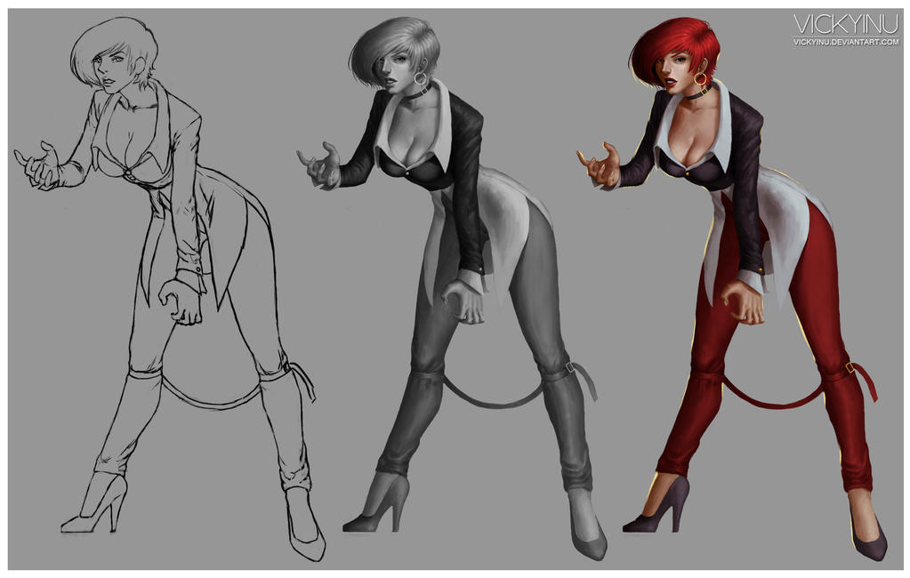 Iori ~ KOF (female) Process