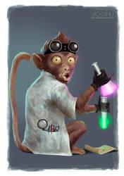 Scientist Monkey by VickyInu