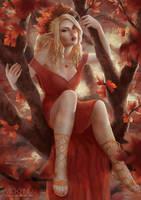 Autumn Goddess by VickyInu