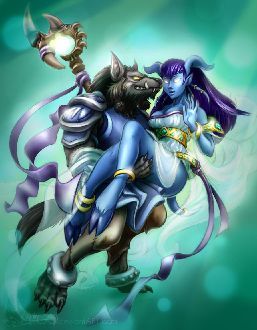 Draenei on worgen softcore pic