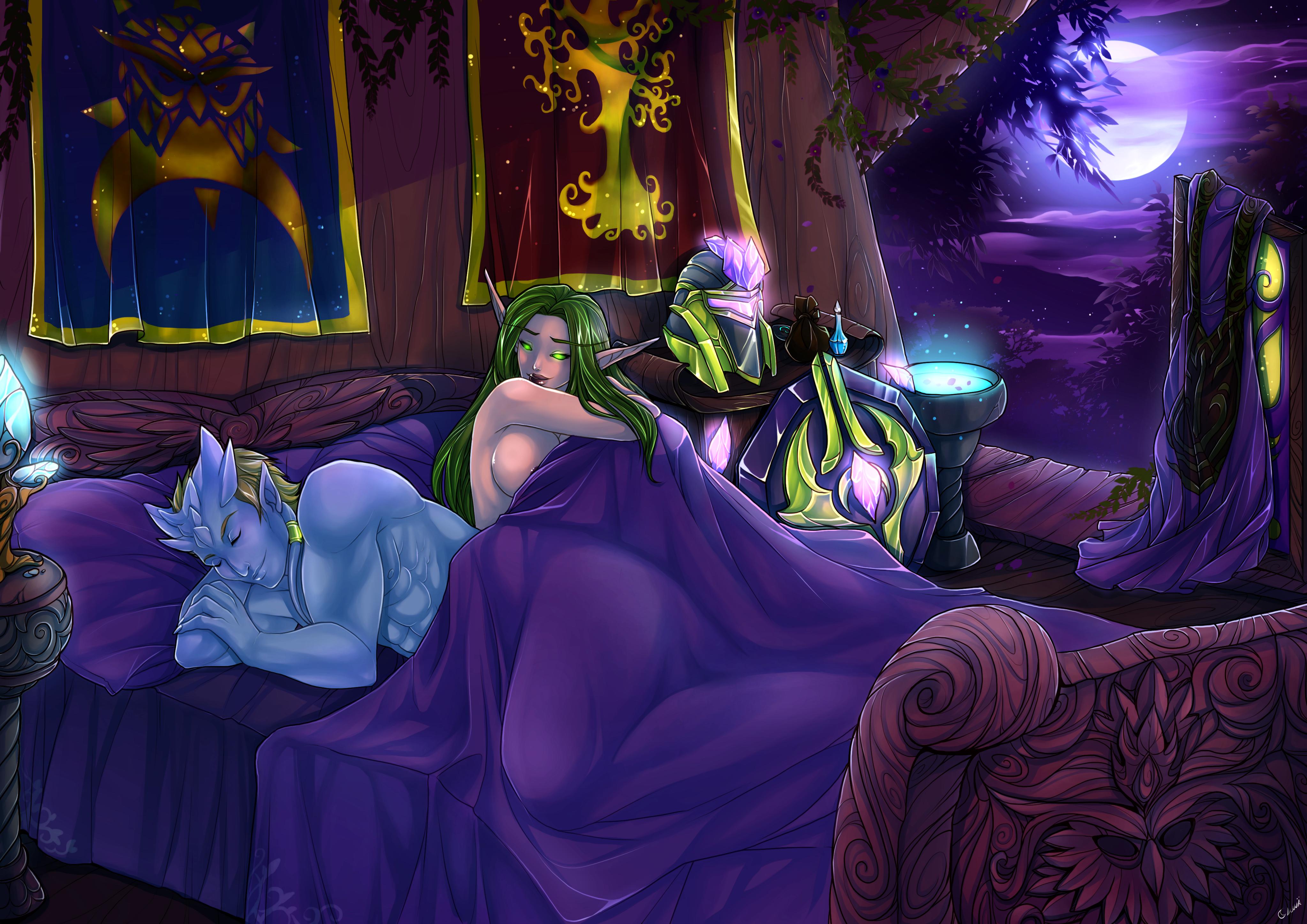 Darnassian Nights by NIELSPETERDEJONG