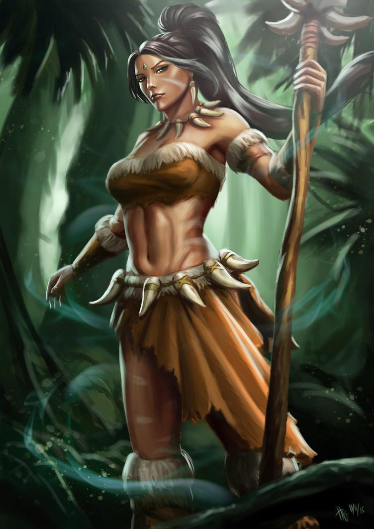 Nidalee The Bestial Huntress by NIELSPETERDEJONG