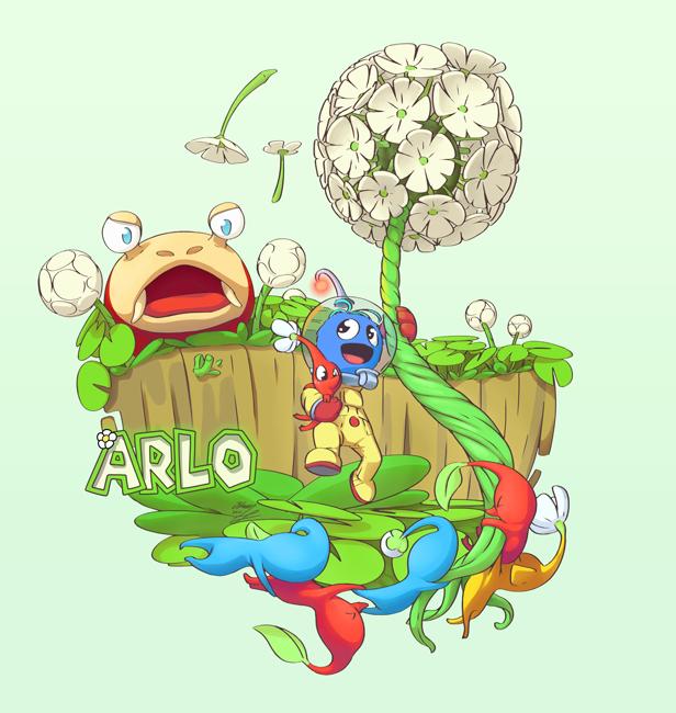 Adventurer Arlo in Pikmin Calamity by Alexia-way