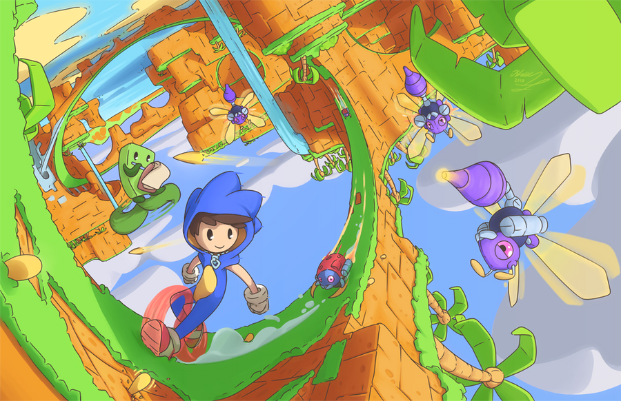 Sonic Dan _ The Adventure for Frames by Alexia-way