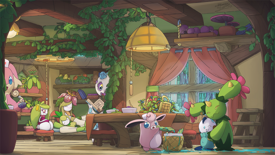 Poke-world _can't be sickness, without a rainy day by Alexia-way