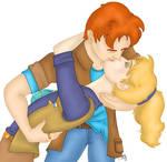 Wheeler and Linka Kissing