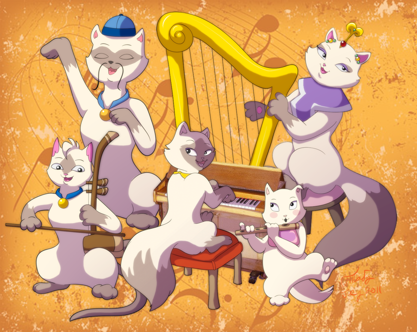 Sagwa music festival by chesney on deviantart - Cat cartoon shows ...