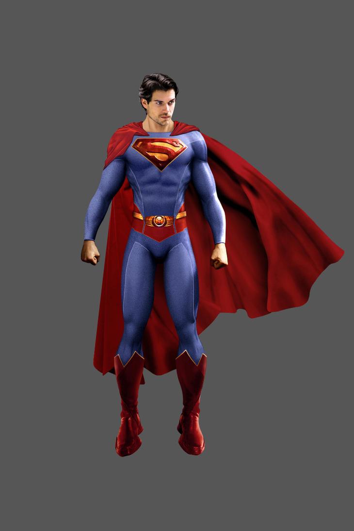 H. Cavill As Superman Classic by J-K-K-S