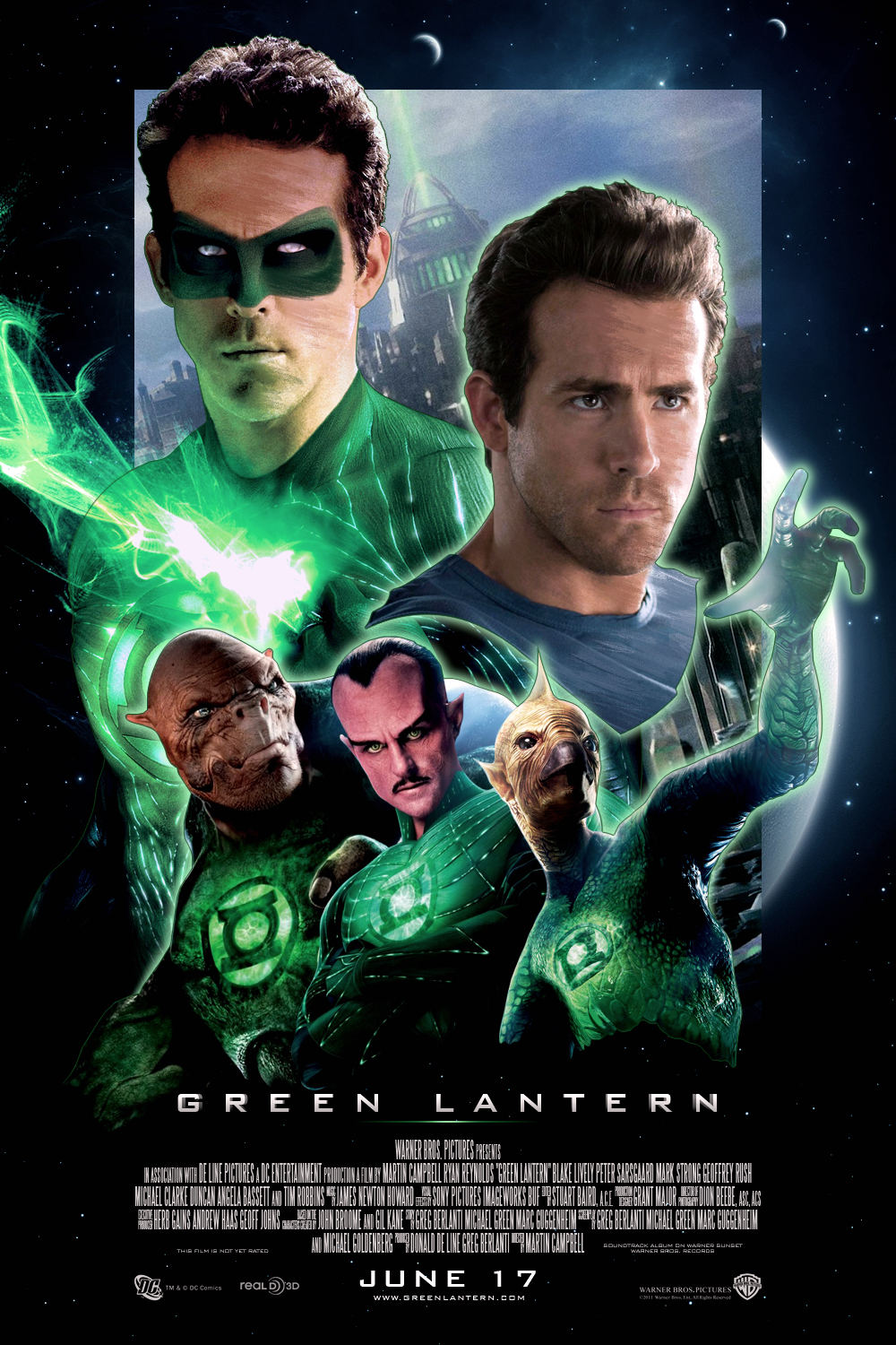 green lantern poster. tron cycle - mtm
